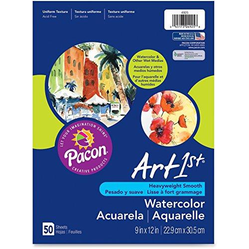 - Pacon Corporation 4925 Watercolor Paper, 90lb, 9