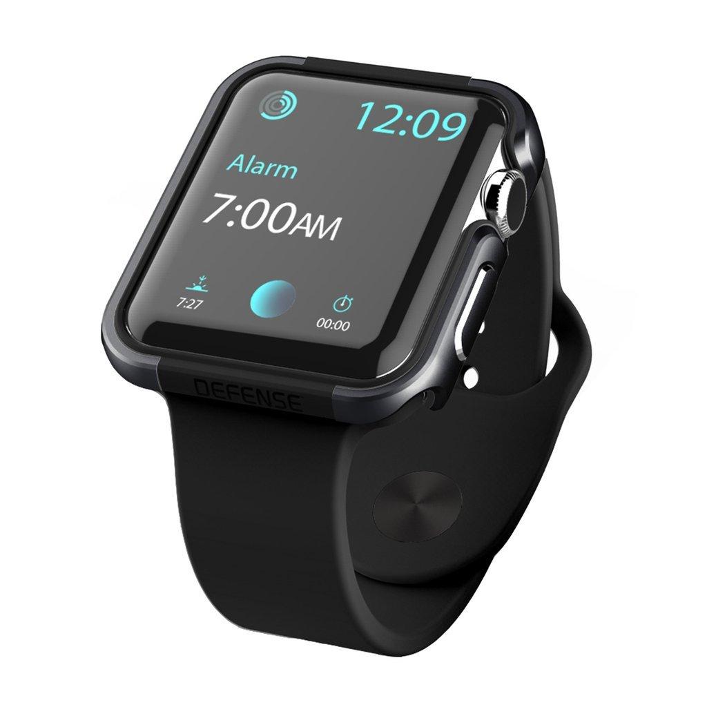 42mm Apple Watch Case, X-Doria Defense Edge Premium Aluminum & TPU Bumper Frame for 42mm Apple Watch, Black/Black