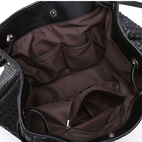 Pour Main Shoulder Shape Main Mode Design Look Top V Leather à ZM Les Handle Femmes Sac Sacs Gris à élégant qwtaxIZnC