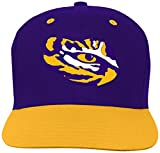 Outerstuff NCAA Lsu Tigers Toddler 2-Tone Flat Visor Snapback, Regal Purple, Toddler One Size