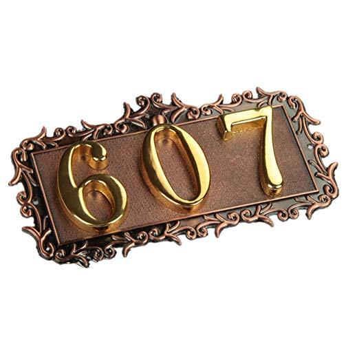 [해외]Fuli 3 자리 집 번호 고급 3D 디지털 카드 게이트 번호 홈 호텔 빌라 아파트 먼 트 도어 도금 금속 플레이트 표지판 / Fuli 3 Digits House Number High-Grade 3D Digital Cards Gate Numbers Home Hotel Villa Apartment Door Plating Metal Plate ...
