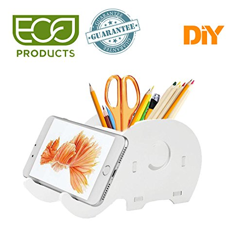 Pen Holder-Cell Phone Stand-Phone Stand-Cute Elephant Desk Decoration-Multifunctional Stationery -
