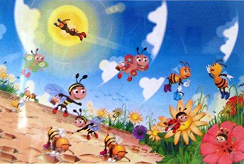 [Toys Educational Leaning preschool Cartoon Jigsaw Puzzle (Bee)] (Star Wars Kids Costumes Diy)