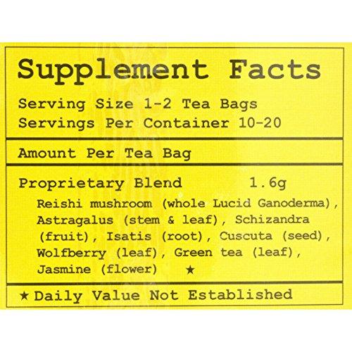 Health King Reishi Liver Guard Herb Tea - Immune Support - 20 Tea Bags (Pack of 2)