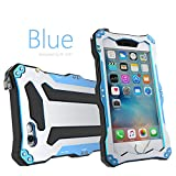 iPhone 6 Case,iPhone 6S Case,bpowe Gundam Gorilla Glass Aluminum Metal premium protection Shockproof Military Bumper Heavy Duty Sturdy Protective Cover Shell Case for Apple iPhone 6 6S 4.7inch (Blue)