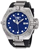 Invicta Men's 1155 Subaqua Noma IV GMT Blue Dial Black Polyurethane Watch, Watch Central