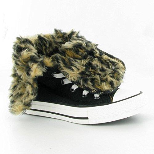 Converse Footwear CT Knee Hi XHI Junior Black Leopard Kids 12