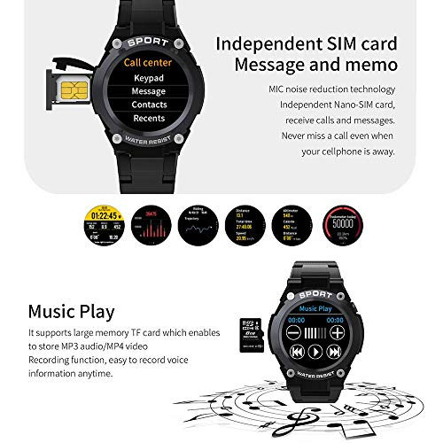 Fitness Tracker HR, Tenlso Activity Tracker Watch With Heart Rate Monitor G9 Smart Watch Blood Pressure Monitor Color Touch Screen Compatible With IOS Iphone Android Activity Sports Watch GPS Tracker