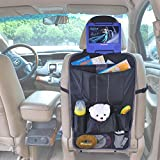 TFY Car Seat-back Caddy – Multi-Pocket Storage with Headrest Mount for Portable DVD Player
