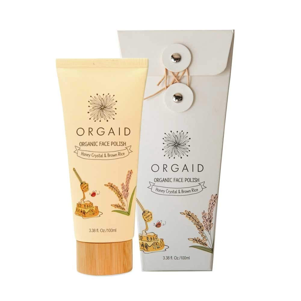 ORGAID Organic Face Polish with Honey crystal & Brown rice by ORGAID