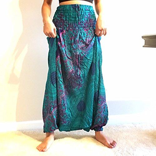 Tin Man Costume Tin Foil (NEW!! 2 in 1 Harem Pants & Jumpsuit Authentic Asia-Laithai Collection (012))
