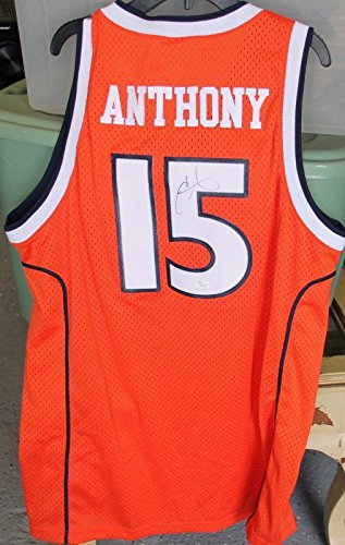 Signed Carmelo Anthony Jersey - Nike Stitched Letters Numbers - JSA Certified - Autographed College Jerseys