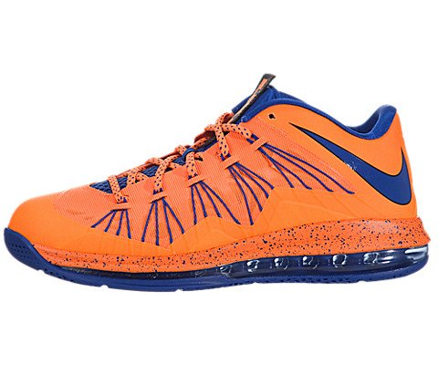 newest b6b5a 12abb Galleon - NIKE Men s Air Max Lebron X Low Basketball Shoes (12, Bright  Citrus Hyper Blue-Blackened Blue-White - 579765 800)