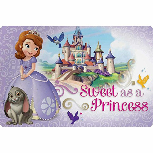 Zak Designs Placemat with Sofia the First Graphics, BPA-free Plastic -