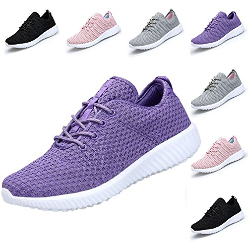 hoes Women Sneakers Casual Sport Shoes (EU 41/Women 10M, Purple) (Purple Womens Sneakers)