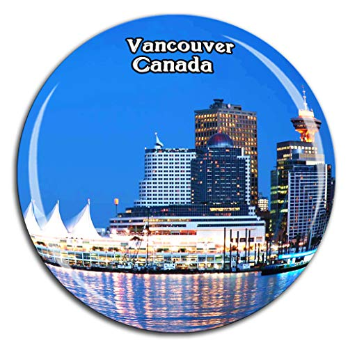 - Granville Island Vancouver Canada Fridge Magnet 3D Crystal Glass Tourist City Travel Souvenir Collection Gift Strong Refrigerator Sticker