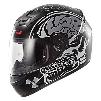 LS2 FF352 ROOKIE FLUTTER MOTORCYCLE MOTORBIKE SCOOTER FULL FACE CRASH ROAD HELMET BLACK PURPLE XXL