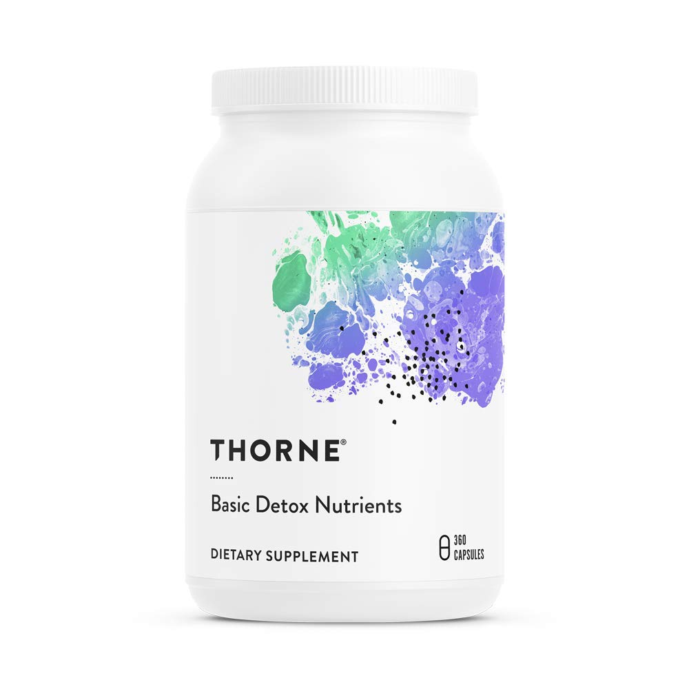 Thorne Research - Basic Detox Nutrients - Soy-Free - Vitamins, Minerals, and Other Nutrients to Aid in Detoxification - 360 Capsules