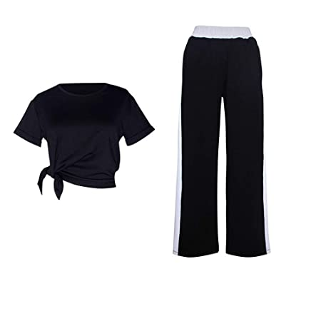 Pantalones de running para mujer Damas Color sólido Yoga ...