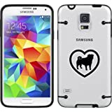 Black Samsung Galaxy Ultra Thin Transparent Clear Hard TPU Case Cover Pug Heart (Black for S4)