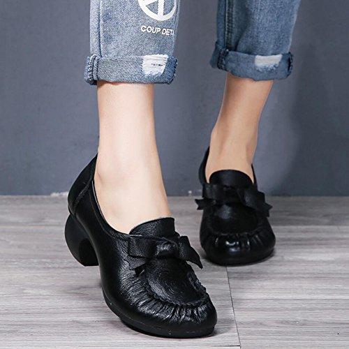 Ons de amp; Une Mocassins Marche pour Respirant Femmes Conduite Chaussures Cuir Été Chaussures Sandales Style National en XUE et Tongs Pantoufles Bureau Printemps Chaussures de Slip WAqvCxwtp1