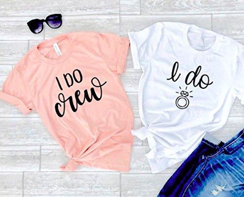 Amazon.com: Bridesmaid shirts wedding party shirts bride shirts ...