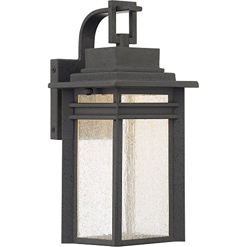 Lantern Beacon Large Wall Outdoor (Quoizel BEC8406SBK Beacon Integrated LED Outdoor Lantern, SBK - Stone Black)
