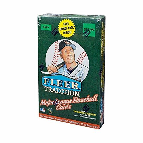2000 Retail Box - 2000 Fleer Tradition Baseball 11ct Retail Box