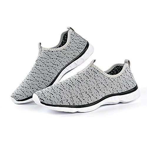 Feetmat Frauen Wasser Schuhe Mesh schnell trocknende Strandschuhe Grey037