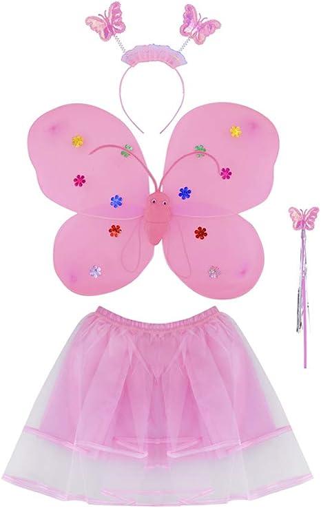 ISO TRADE Un Disfraz de Mariposa 4en1 - Disfraz de Mariposa Hada ...