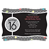 Sweet Sixteen - Personalized Birthday Party Invitations