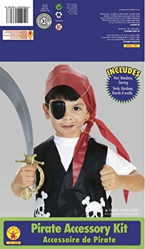 [Rubie's Costume Child's Pirate Dress-Up Kit] (Halloween Costumes With Red Bandana)
