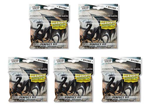 5 Packs Dragon Shield Inner Sleeve Sideloader Smoke Standard Size 100 ct Card Sleeves Value Bundle!