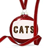 Christmas Decoration Cats Cheetah Cat Animal Print Ornament