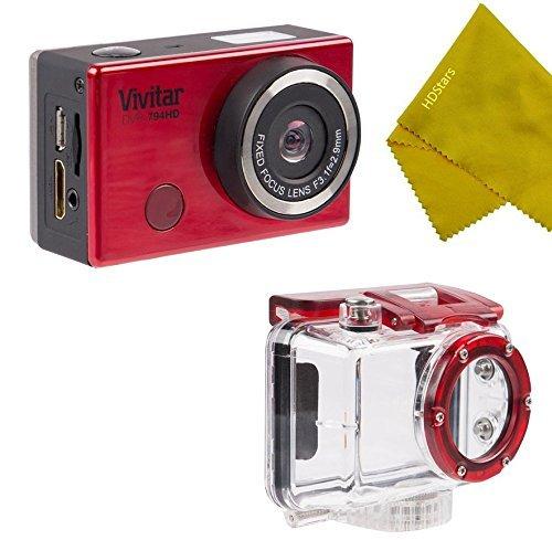 Vivitar WiFi 12.1MP Action Camera DVR-794HD Waterproof Underwater HousingRED [並行輸入品] B07F3MXMX1