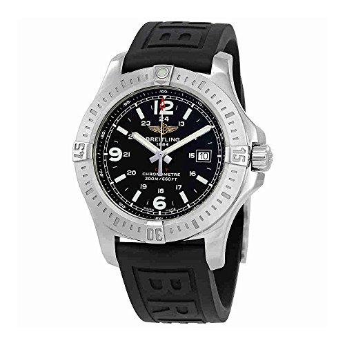 Breitling Colt Black Dial Black Rubber Mens Watch A7438811-BD45BKPT3