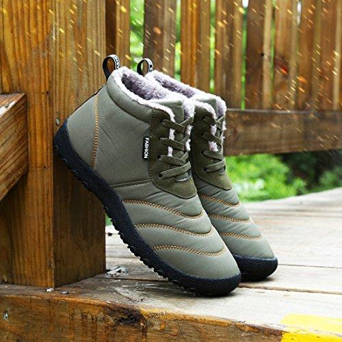 Shoes Outdoor DIERDI Timberland invernali cachi Uomo Stivali Stivali impermeabili Walking 8gfOaqw