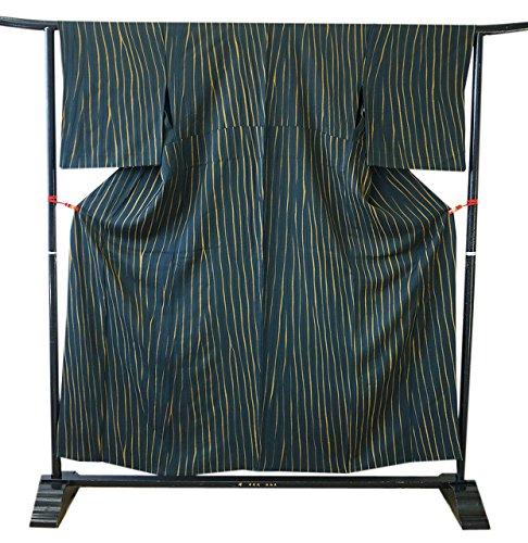 救出共和党実際に博多着物市場 きものしらゆり 裄68.2cm 裄長め 単衣 極上ちりめん 板〆絞り 小紋 正絹 仕立て上り 身長150cm~156cmの方に最適
