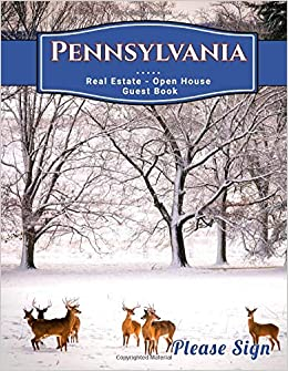 Amazon it: Pennsylvania Real Estate Open House Guest Book