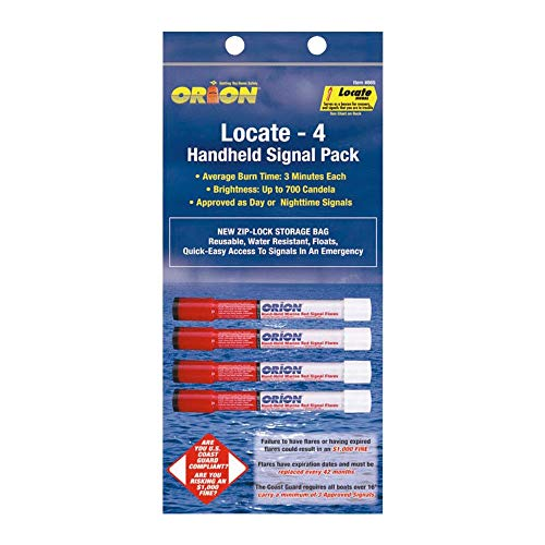 Orion Safety 865, Locator Marine Hand-Held Red Flare Pack of 1