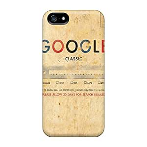 Excellent Iphone 5/5s Case Tpu Cover Back Skin Protector Google Classic
