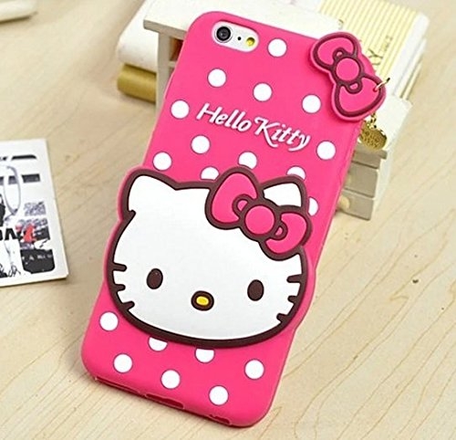 Hello Kitty Squishy Carrying Case : iPhone 6 / 6S Case - Pink Polka Dots Hello Kitty w/ Charm Soft - Import It All