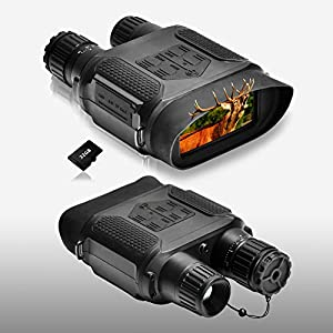 Night Vision Binoculars 1300ft/400M Viewing Range, with 3.5-7x31mm Infrared Camera, 4″ Large Screen Night Vision Goggles, with 32G TF Card and Photos Videos Features for Hunting and Surveillance