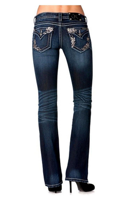 Miss Me-Embellised Rosegold Sequin Design Bootcut