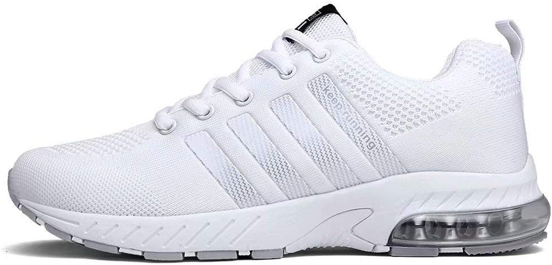 Fushiton - Zapatillas de running con cojín transpirable y cómodas, deportivas y deportivas, (Blanc T), 45 EU: Amazon.es: Zapatos y complementos