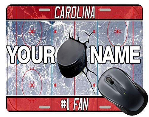 BRGiftShop Personalize Your Own Hockey Team Carolina Square Mouse Pad