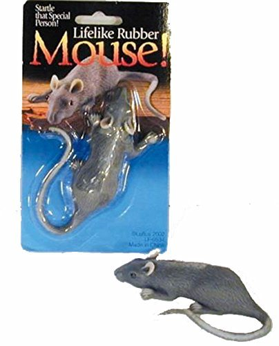 4 Pieces Mice / Real Looking Fake Play TOY Rubber Mouse
