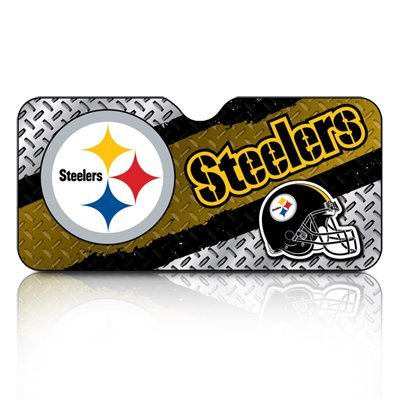NFL Team Pittsburgh Steelers Car Front Windshield Sun Shade (Car Sunshade Team)
