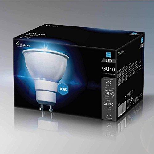 Xlight.ca GU10 Led Light Bulbs, 5W(50W Equivalent), Dimmable LED Bulb Energy Star,UL-Listed, Pack of 6 (Daylight 5000K)