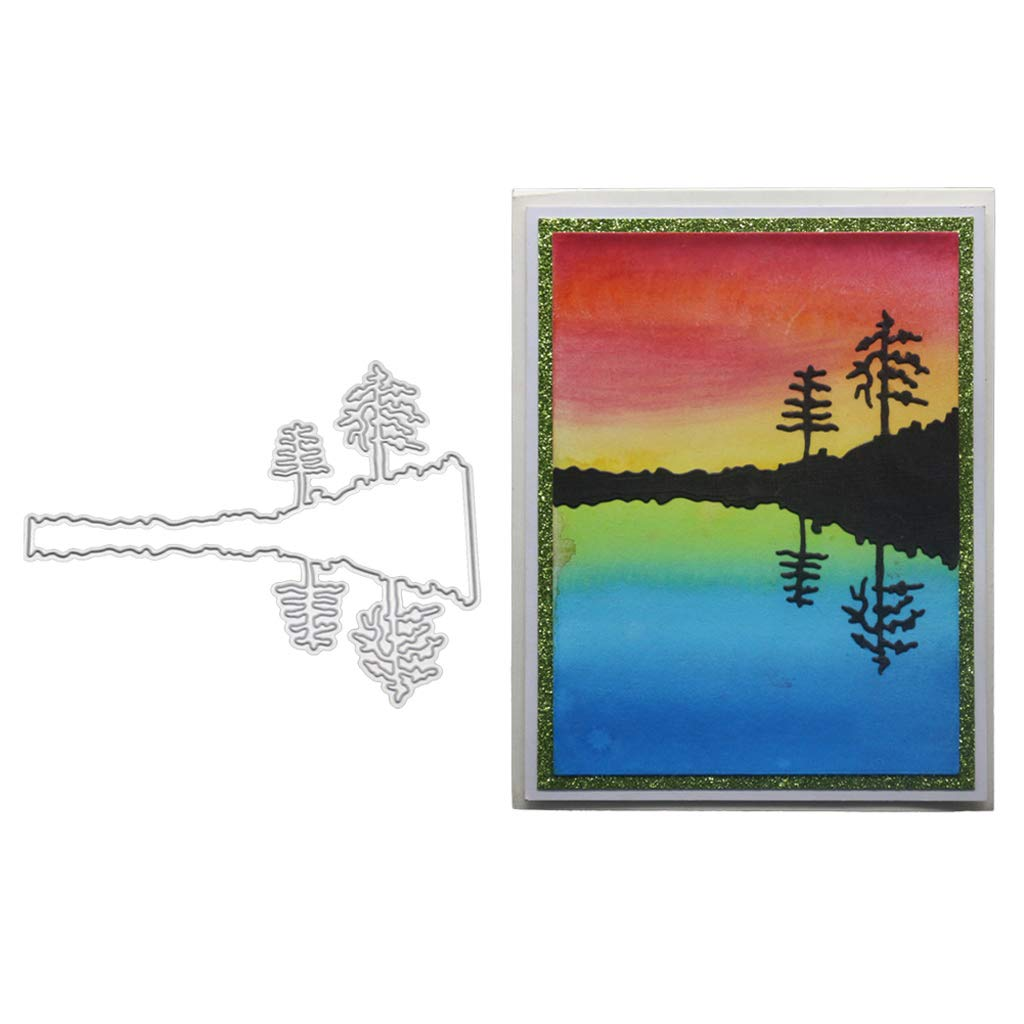 Hukai Tree Metal Cutting Dies Stencil DIY Scrapbooking Album Stamp Paper Card Embossing Crafts Decor,Good Gift for Your Kids to Cultivate Their Hands-on Ability